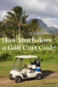 How much is a golf cart cost pin